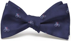 Cyclist English Woven Pedigree: Bow - Navy