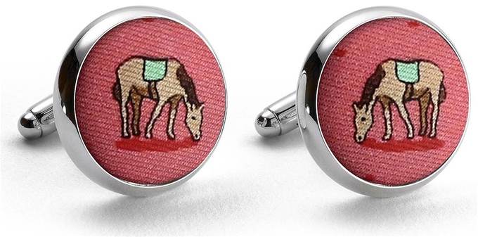 Horse Play: Cufflinks - Coral