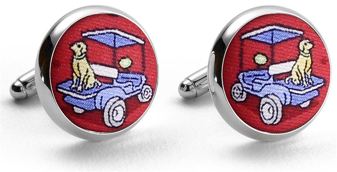 Golf Buddies: Cufflinks - Red