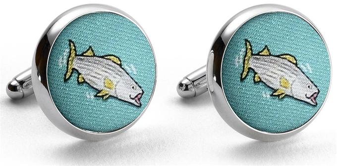 Hook - Line & Stripers: Cufflinks; Mint