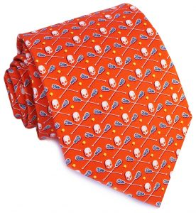 Lacrosse Bones: Tie - Orange