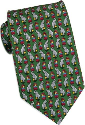 Holiday Elephants: Extra Long - Green