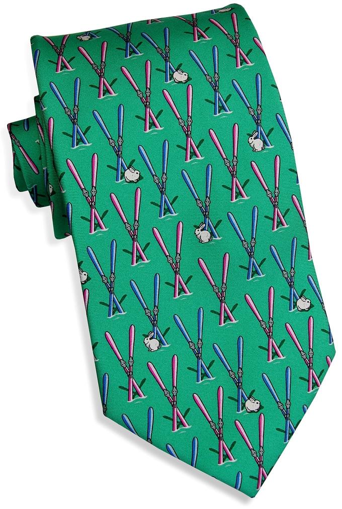 Ski Bunny: Tie - Green