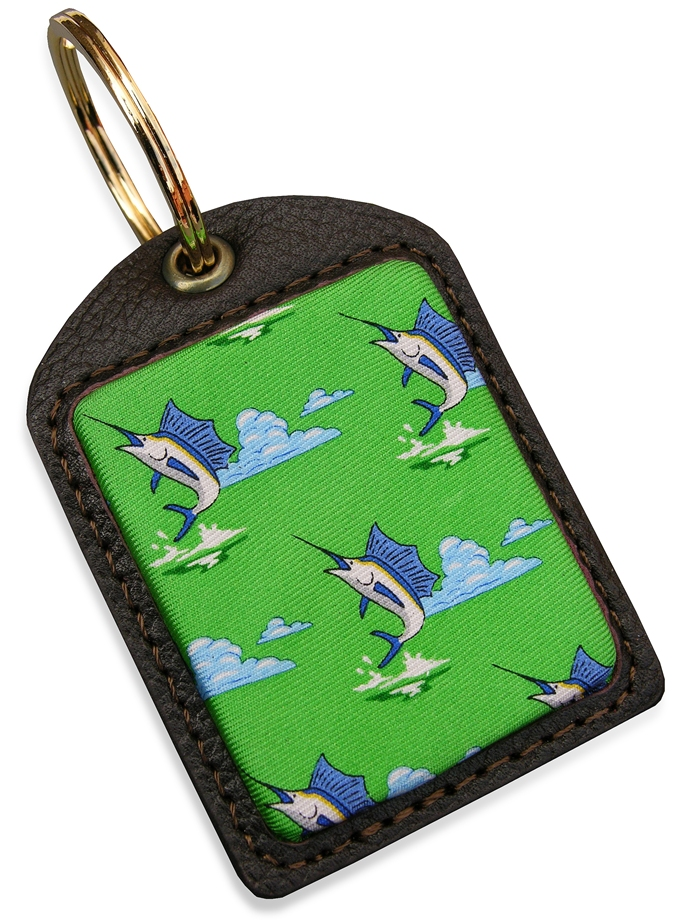 Blue Marlin: Key Chain - Lime