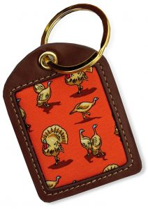 Turkey Trot: Key Chain - Orange