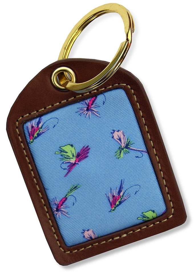 Hooked on Flies: Key Chain - Light Blue
