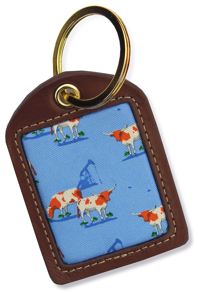 Longhorns: Key Chain - Light Blue