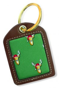Santa Stags: Key Chain - Green