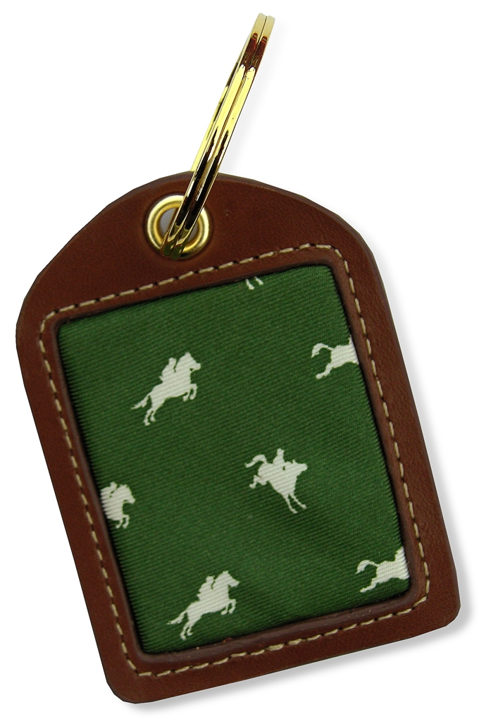 Equestrian Spot: Key Chain - Green
