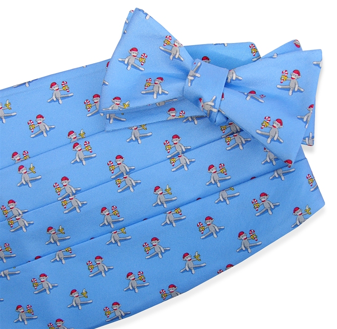 Xmas Monkey: Cummerbund - Light Blue