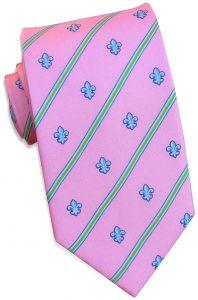Fleur Stripe: Tie - Pink