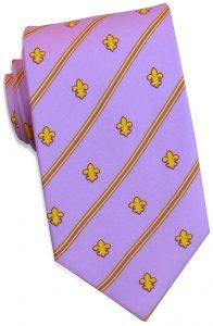 Fleur Stripe: Tie - Violet