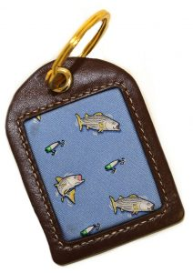 Hook, Line & Stripers: Key Chain - Blue