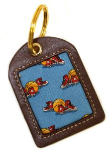 Hoop Dreams: Key Chain - Blue