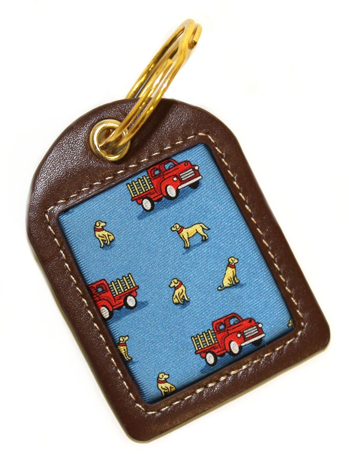 Dogs Love Trucks: Key Chain - Blue