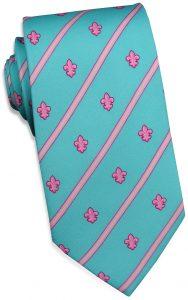 Fleur Stripe: Tie - Turquoise