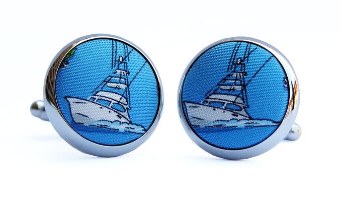 Go Fish: Cufflinks - Blue