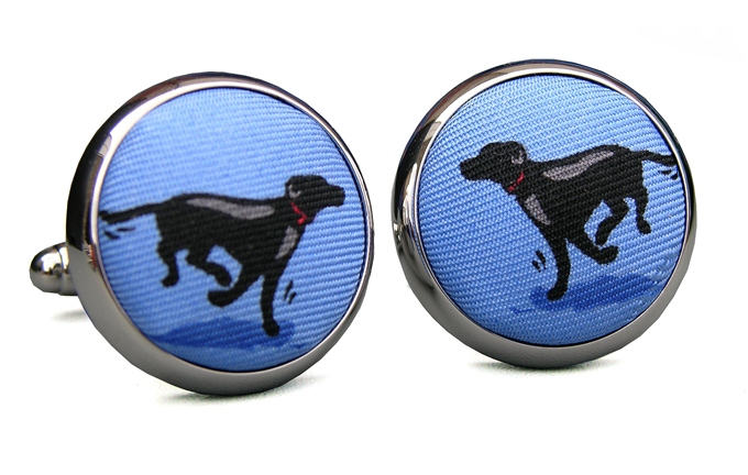 Black Lab Heaven: Cufflinks - Blue