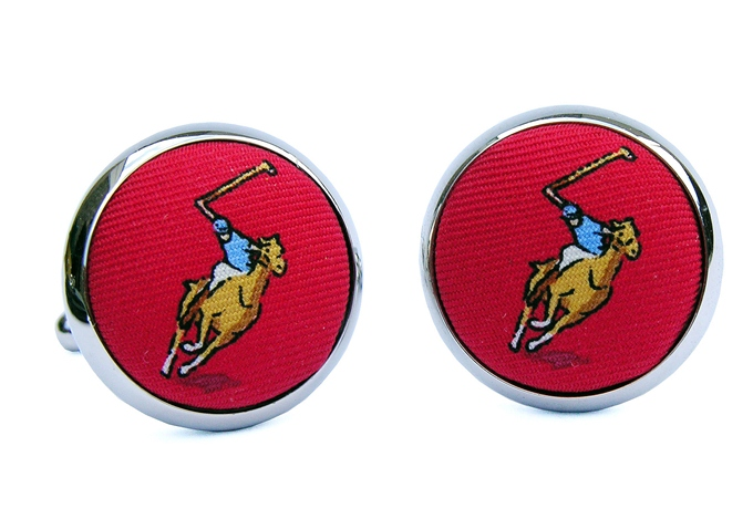 Polo Match: Cufflinks - Red