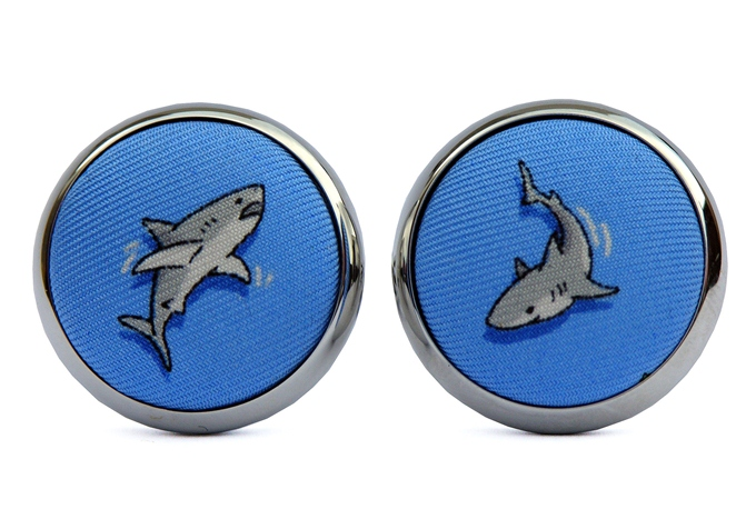Shark Week: Cufflinks - Blue
