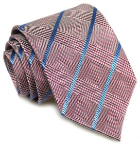 Glengarry Glen Plaid: Tie - Fuchsia