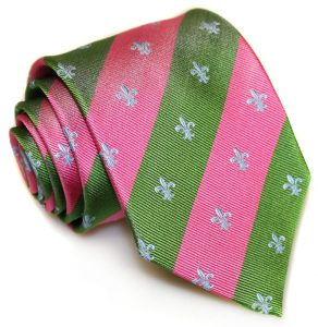 French Connection: Tie - Pink/Green