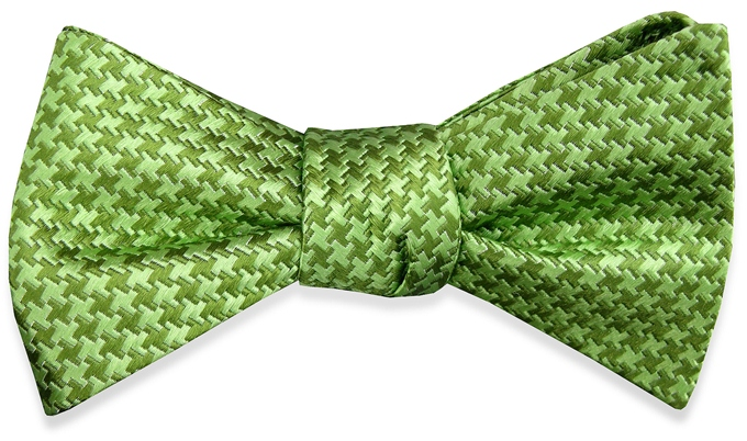 Houndstooth: Bow - Lime