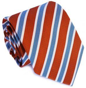 Debonair Stripe: Tie - Blue/Orange