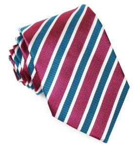 Debonair Stripe: Tie - Magenta