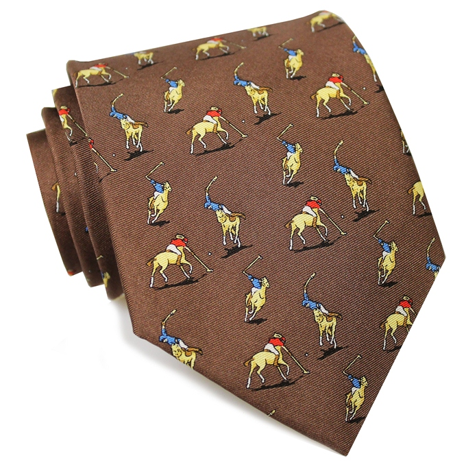Polo Match: Tie - Brown