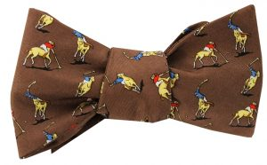 Polo Match: Bow - Brown