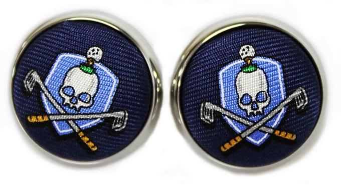 Skull & Cross-Clubs: Cufflinks - Navy