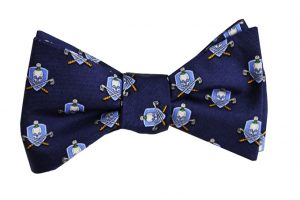 Skull & Cross-Clubs: Bow - Navy
