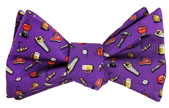 Guy Tie: Bow - Purple