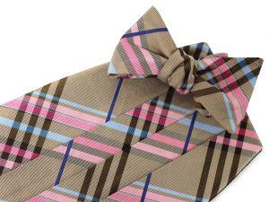 Neopolitan Plaid: Cummerbund - Brown