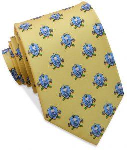 Skull & Cross-Clubs: Tie - Yellow