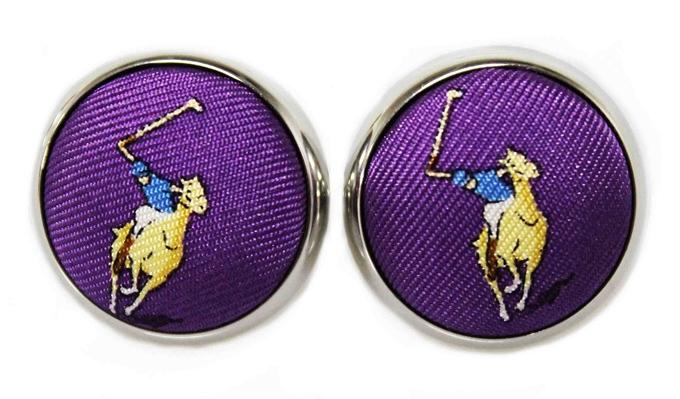 Polo Match: Cufflinks - Purple