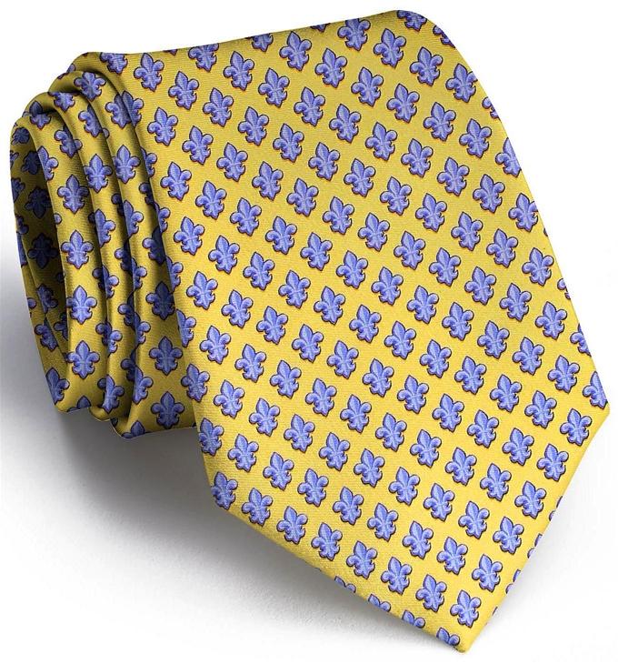 Fleur De Lis: Tie - Yellow/Blue