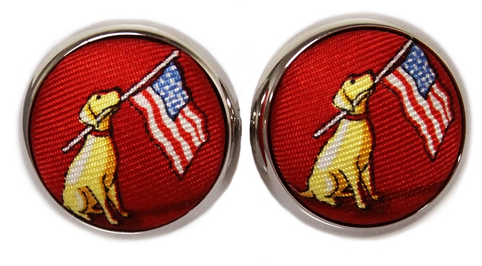 Dogs Love America: Cufflinks - Red