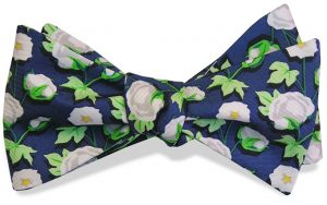Cotton Boll: Bow - Navy