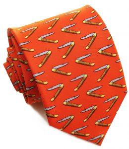 Mack the Knife: Tie - Orange