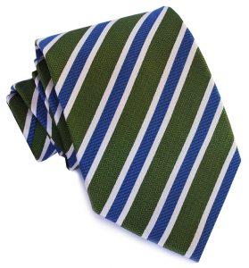 Debonair Stripe: Tie - Green/Blue