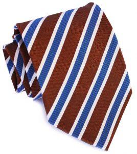 Debonair Stripe: Tie - Brown/Blue
