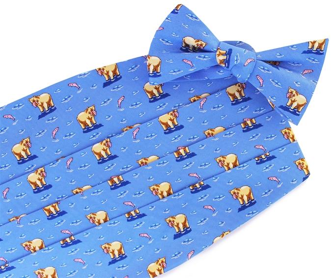 Bear Necessities: Cummerbund - Blue