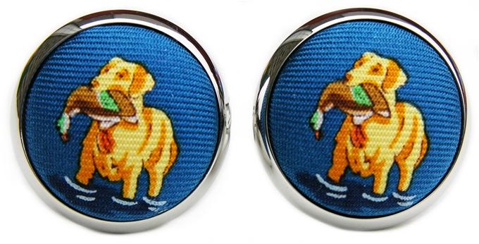Gun Dog Glory: Cufflinks - Blue