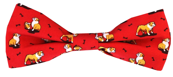 Bulldog Bonanza: Boy's Bow - Red