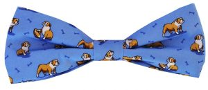 Bulldog Bonanza: Boy's Bow - Blue