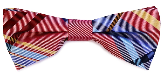 Venetian plaid: Boy's Bow - Red