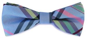 Venetian plaid: Boy's Bow - Blue