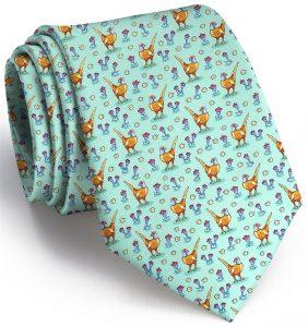 Pheasant Fields: Tie - Mint